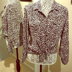Animal Print Blouse/ Shirt